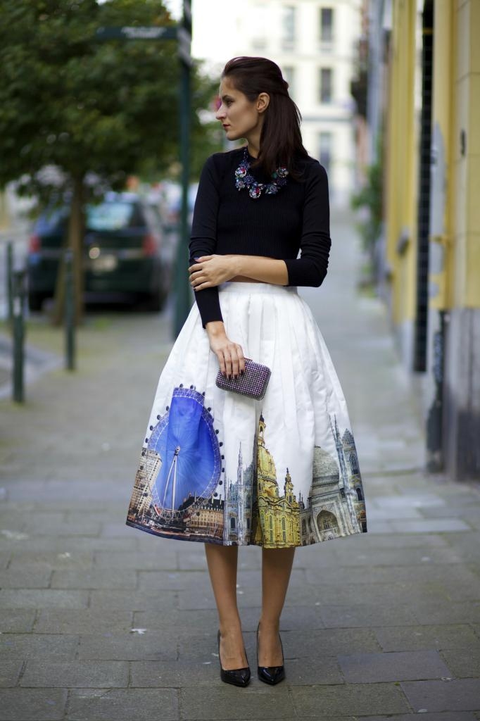 Midi skirt for an elegant evening out - Kaftan Mag